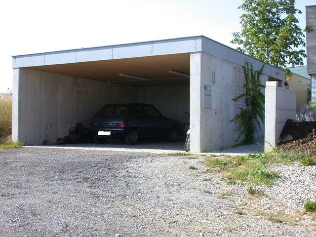 carport aus sichtbeton mit flachdach baumeister kickinger