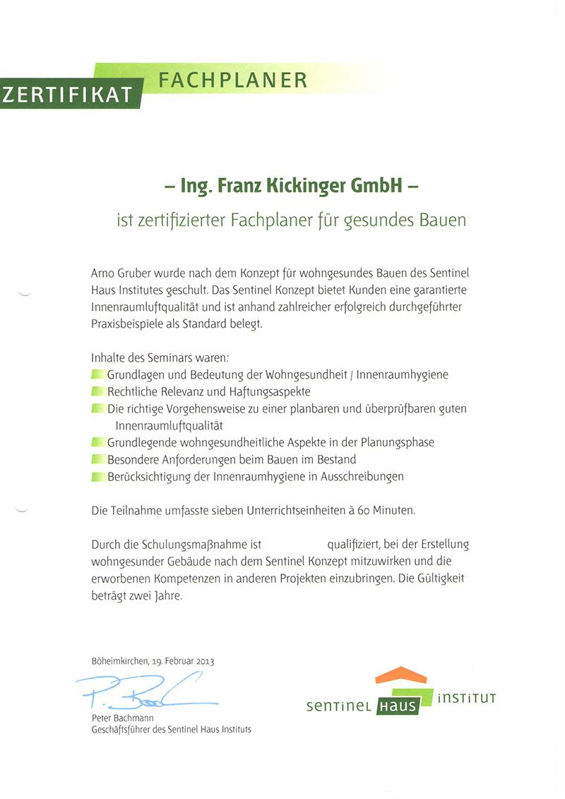 Kompetenz - Baumeister Kickinger